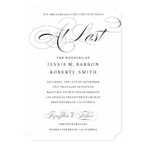 Elegant Gay Wedding Invitation At Last Calligraphy