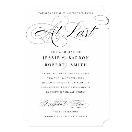 Elegant Gay Wedding Invitation At Last Calligraphy