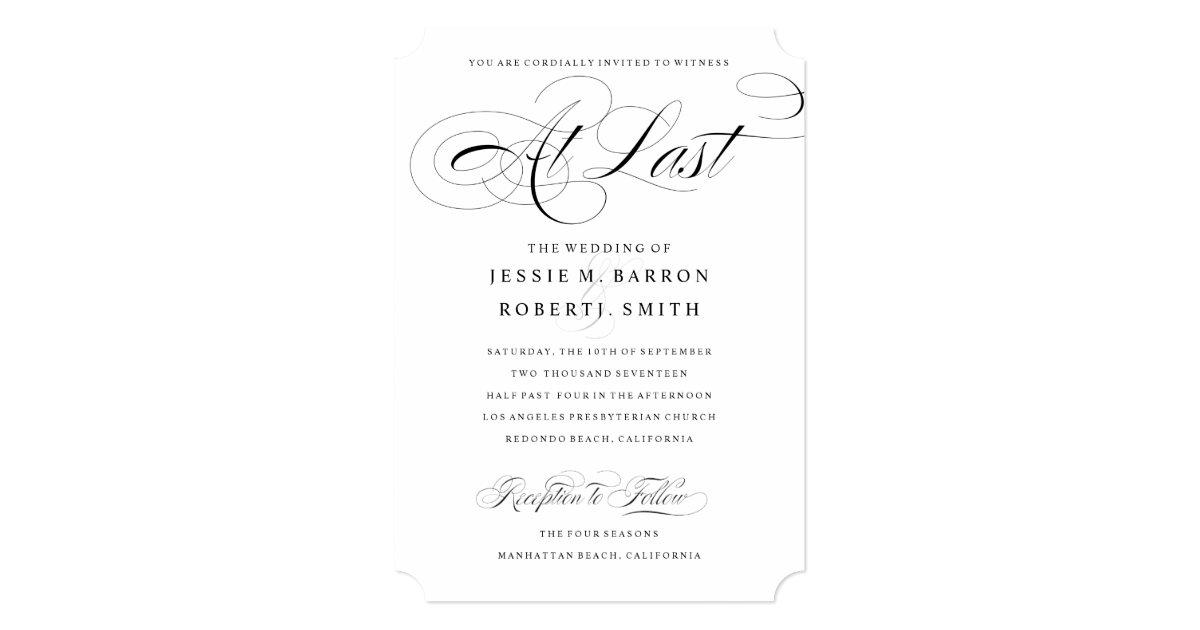 Lgbt Wedding Invitations: Elegant Gay Wedding Invitation At Last Calligraphy