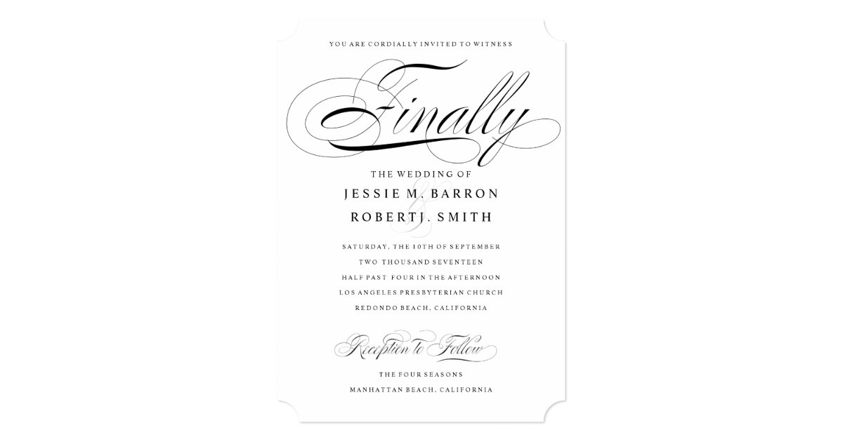 Gay Marriage Wedding Invitations: Elegant Gay Wedding Invitation Finally Calligraphy