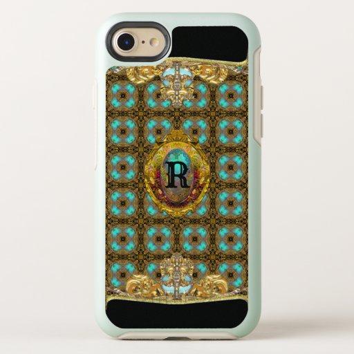 Elegant Gazer  Gorgeous Monogram OtterBox Symmetry iPhone SE/8/7 Case