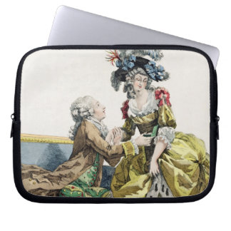 Elegant Gentleman Proposing to a Lady in a 'Margue Laptop Sleeve