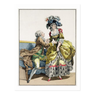Elegant Gentleman Proposing to a Lady in a 'Margue Postcard