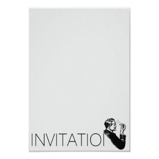 "Elegant Gentlemen Invitation 3.5"" X 5"" Invitation Card"