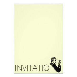 Elegant Gentlemen Invitation 9 Cm X 13 Cm Invitation Card