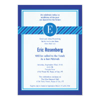 Elegant Geometric Bar Mitzvah Invitation