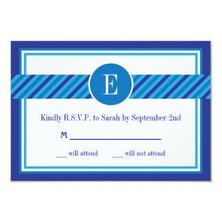 Elegant Geometric Bar Mitzvah RSVP Card