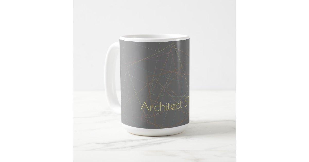 Elegant Geometric Lines Dark Grey Architect Studio Coffee Mug Zazzle Com