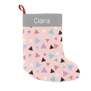 3eef0464e Elegant geometric pattern pink purple mint black small christmas stocking