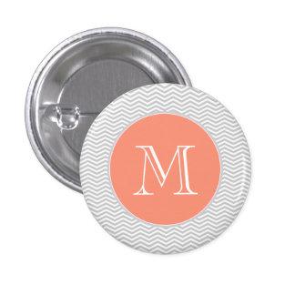 Elegant geometry of chevrón and monograma pinback buttons