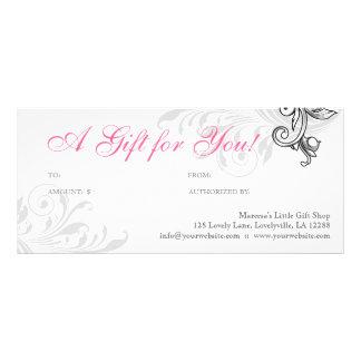 Elegant Gift Certificate Retail Floral Pink White
