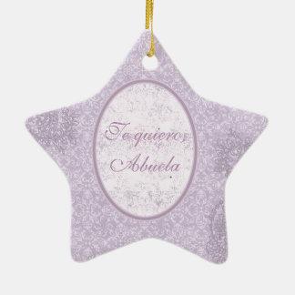 Elegant gift for grandmother Double-Sided star ceramic christmas ornament