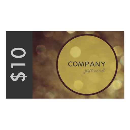 Elegant Gift or Discount Card Business Cards