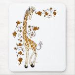 Elegant Giraffe Mouse Pad