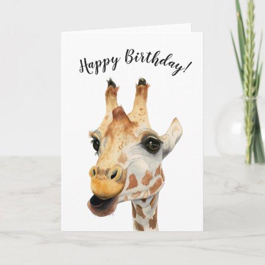 Elegant Giraffe Watercolor Painting