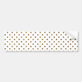 Elegant Girly Cute Polka Dots Glitter Photo Print Bumper Sticker