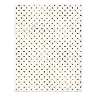 Elegant Girly Cute Polka Dots Glitter Photo Print Full Color Flyer