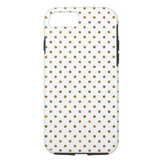 Elegant Girly Cute Polka Dots Glitter Photo Print iPhone 7 Case