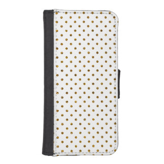Elegant Girly Cute Polka Dots Glitter Photo Print iPhone SE/5/5s Wallet
