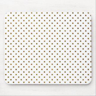 Elegant Girly Cute Polka Dots Glitter Photo Print Mouse Pad