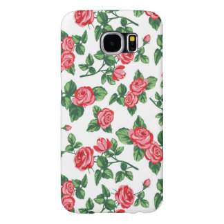 Elegant Girly Floral - Stylish Red Rose Flowers Samsung Galaxy S6 Case