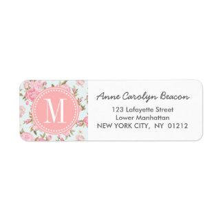 Elegant Girly Floral Vintage Personalized Label