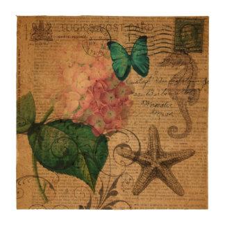 elegant girly Hydrangea butterfly vintage paris Coaster