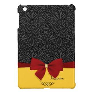 Elegant Girly Modern Damask iPad Mini Case