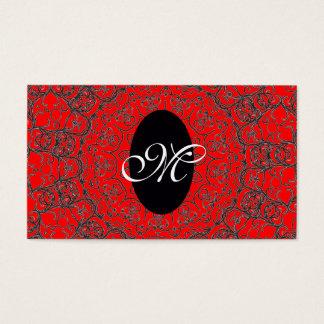 Elegant Girly Monogram Pattern / House-of-Grosch Business Card