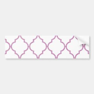 Elegant Girly Pink  Quatrefoil Pattern Bumper Stickers