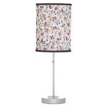 Elegant girly trendy vintage roses  floral pattern table lamp