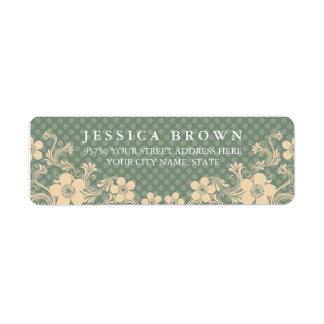 Elegant Girly Vintage Floral & polka dots label