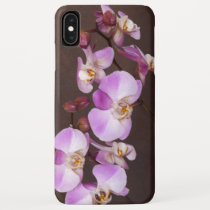 Elegant Girly Violet White Orchid Flowers iPhone XS Max Case