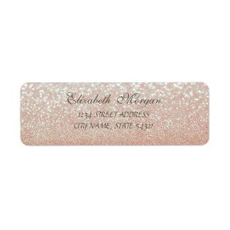 Elegant Glamorous  Glittery  Bokeh Address Label