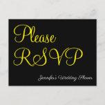 "[ Thumbnail: Elegant, Glamorous ""Please RSVP"" Postcard ]"