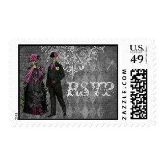 Elegant Glamorous Skeletons RSVP Postage