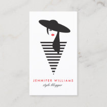 Elegant Glamour Mod Stylist, Boutique Business Card