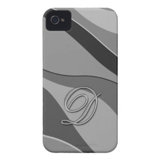 Elegant Glass Monogram Letter D iPhone 4 Case-Mate Case