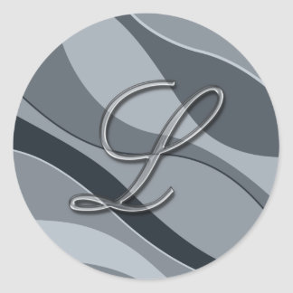Elegant glass monogram letter l stickers for Stick on letters for glass