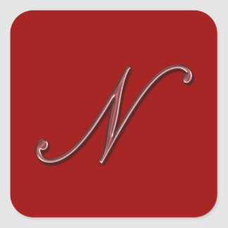 Monogram for glass stickers 500 custom designs zazzle for Stick on letters for glass