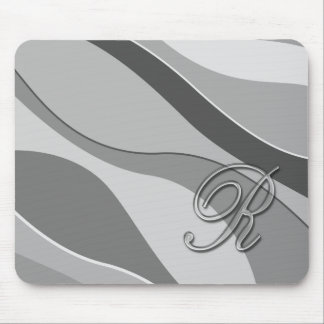 Elegant Glass Monogram Letter R Mouse Pad