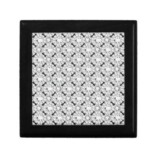 Elegant Glitter Encrusted White Diamonds Pattern Jewelry Box