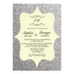 Elegant Glitter Framed Wedding Invitation