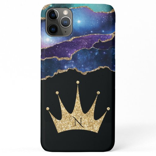 Elegant Glitter Gold Queen Princess Crown iPhone 11 Pro Max Case