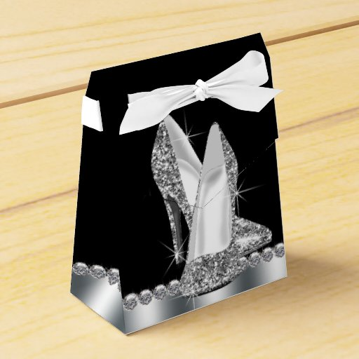 Elegant Glitter High Heel Shoe Favor Box