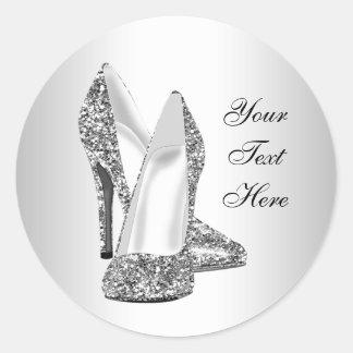 Elegant Glitter High Heel Shoe Stickers