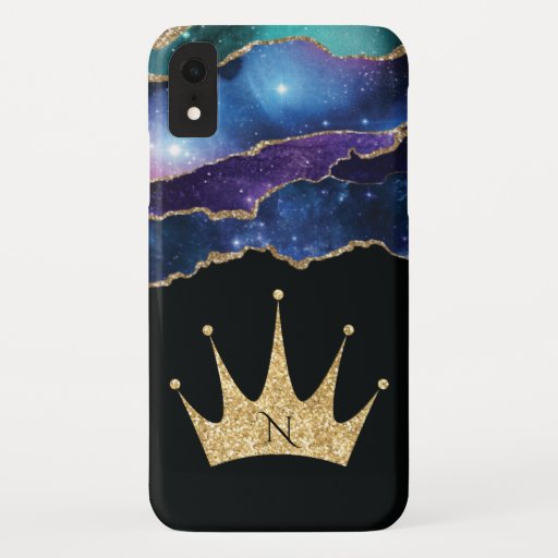 Elegant Glitter Queen Princess Crown iPhone XR Case