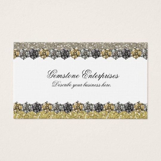 Elegant Glitter Rhinestones Business Card