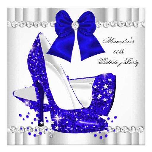 Personalized Fabulous high heel birthday Invitations