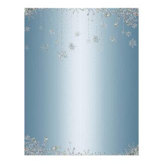 Elegant glitter snowflakes letterhead
